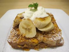 The wicked peanut butter French toast with caramelized banana! From the fantastic NOSH restaurant in Kuala Lumpur >>> Yup, I think I need this...