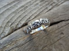 Elephant ring in sterling silver by Billyrebs on Etsy, $26.00