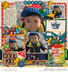 March 2017 SSD Bingo Challenge: #18 Feeling lucky Half pack 182: page fillers 19 template by Cindy Schneider Cool kid: bundle by Studio Basic Designs