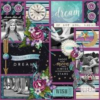 Dream  Created using: Reflections: January by Dagi Temptations http://store.gingerscraps.net/Reflections-January.html Kit used: Dreamer: Bundle by Kristin Cronin-Barrow http://www.sweetshoppedesigns.com/sweetshoppe/product.php?productid=33071&page=1