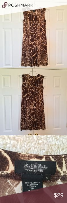 Giraffe Print Dress Realistic giraffe print dress. Super comfy! Peck & Peck Dresses