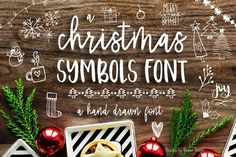 40 Hand Lettered Christmas Photo Overlays + a free Christmas doodles symbol font! These photo overlays will be the perfect addition to any of your Holiday Holiday Fonts, Christmas Fonts, Christmas Doodles, Christmas Photos, Christmas Projects, Christmas Holiday, Christmas Design, Christmas Ideas, Christmas Decorations