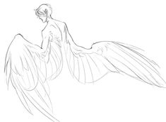 quillery tips wings Art Drawings Sketches, Cool Drawings, Character Drawing, Character Design, Wings Drawing, Anime Poses Reference, Drawing Reference, Anime Base, Arte Sketchbook