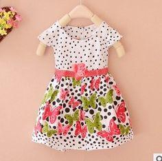 Cute Cotton Dot Flora Print Baby Princess Dress //Price: $14.73 & FREE Shipping //     #fashion