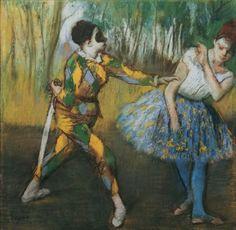 'Harlequin and Columbine' Edgar Degas