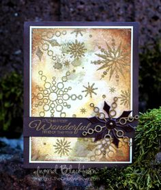 This site is so right - 'who said snowflakes have to be white?'  Gold is stunning.