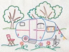 Hungarian Embroidery Pattern Camper's Paradise (Vintage) I've always wanted to learn how to embroider. Hungarian Embroidery, Learn Embroidery, Vintage Embroidery, Cross Stitch Embroidery, Hand Embroidery, Embroidery Sampler, Japanese Embroidery, Christmas Embroidery, White Embroidery