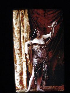 Circus freak... snake charmer