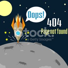 Error 404 concept with crushed rocket royalty-free stock vector art