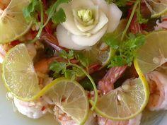 Prawns steamed with Lemon Garlic and Chilli  www.bonislandphuket.wordpress.com