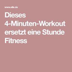 Dieses 4-Minuten-Workout ersetzt eine Stunde Fitness