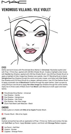 MAC Vile Violet Face Chart