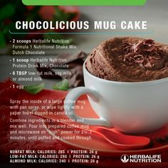Herbalife Chocolicious Mug Cake Recipe. Herbalife Chocolicious Mug Cake Recipe. Herbalife Meal Plan, Herbalife Protein, Herbalife Nutrition, Herbalife 24, Nutrition Club, Nutrition Program, Food Nutrition, Child Nutrition, Nutrition Education