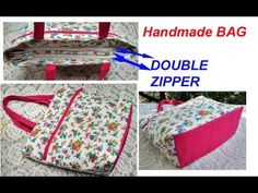 Cutting and stitching of handmade handbags with double zipper in easy way Handmade Handbags, Handmade Bags, Stitching Dresses, Secret Box, Embroidery Bags, Shopping Bag, Bag Making, Purses And Bags, Shoulder Bag
