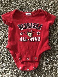 45c1ab33a0 Nebraska Huskers UNISEX Onesie for your little Husker fan!