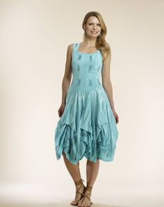 254504eab74 Luna Luz  Frosted Feather Tied   Dyed Tank Dress (Ships Immed In Pink!)