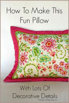Fun Flanged Pillow from NewtonCustomInteriors.com