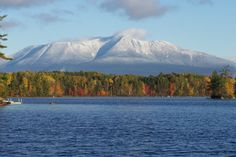 Katahdin ME. The highest mountain in Maine at feet m). Named Katahdin by the Penobscot Indians, the term means The Greatest Mountain. Katahdin is the centerpiece of Baxter State Park and is the northern terminus of the Appalachian Trail. Baxter State Park, Maine New England, Appalachian Trail, Appalachian Mountains, Famous Places, East Coast, State Parks, Travel Photography, Hiking