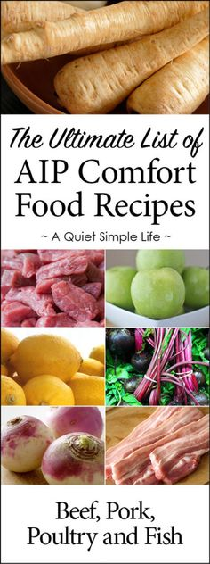 AIP Beef, Pork, Poultry and Fish Recipes