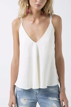 TOP COSTAS ROLOTE CREPE | ANIMALE