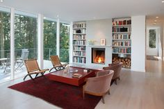 Best Rd - Living Room Fireplace Wall - contemporary - living room - san francisco - Studio Sarah Willmer