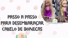 Desembarace o cabelo da boneca Rapunzel