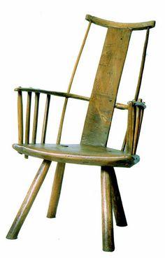 CVCSC-0097.F Chair, windsor, slat plank back