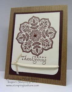Stamping to Share: 11/22 Happy Thanksgiving!