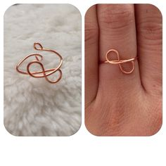 Infinity Wire Ring by shopenvyme2013 on Etsy, $2.50. Use coupon code: PINTEREST to receive 20% off your purchase.