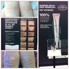 You can't argue with 100% RESULTS from brand-new Volu-Fill Deep Wrinkle Filler! *100% of women showed improvement in appearance of wrinkle severity *Immediately fills in deep wrinkles & helps improve  appearance over time *Significantly impacts appearance of all 6 wrinkle zones *Power-packed with encapsulated retinol, encapsulated hyaluronic acid, & flexible elastomers  Check out the difference in my mom's and my thumbs just a couple minutes after application. Crazy…