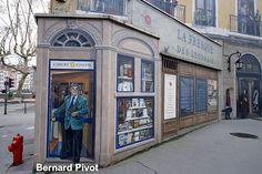 fresque : Bernard Pivot -par cité de la crétion-lyon-france
