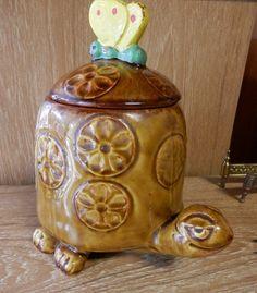 """Vintage McCoy Timmy Tortoise, Turtle 10 1/2"""" Tall Cookie Jar 271 USA"""