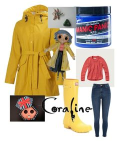 """Coraline"" by tayjayne8 on Polyvore featuring Helly Hansen, Manic Panic NYC, Abercrombie & Fitch, River Island and Hunter"