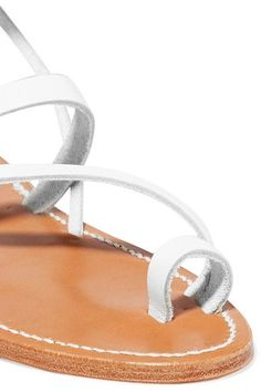 K Jacques St Tropez - Ellada Leather Sandals - White - IT35