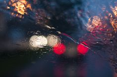 bokeh rainy street