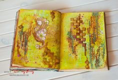 Art Journal w kolorze zielonej cytryny - Magda