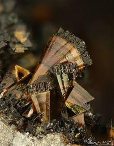 Cronstedtite, Fe 2 2+Fe3+((Si,Fe3+)2O5)(OH) 4, Nagyborzsony, Hungary·