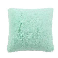 House of Hampton Cargill Ultra Cozy Shaggy Throw Pillow Color: Mint Teal Pillows, Fluffy Pillows, Throw Pillow Sets, Mint Green Rooms, Mint Green Decor, Mint Rooms, Best Pillows For Sleeping, Pillows, Bedroom Decor