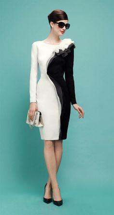 PAULE KA : Dress in satin-backed crepe