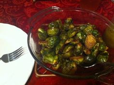 Balsamic Roasted Brussel Sprouts with Lemon Vinaigrette