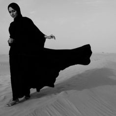 David Alan Harvey. Emirati beauty Safa Alhamed in the desert from which Dubai rose. Safa is a managing partner of the Dubai photo gallery, The Empty Quarter, which is now exhibiting the Moroccan work of Magnum legend Bruno Barbey.