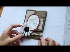 Trifold Shutter Card Tutorial video with flat ribbon knot. Very pretty. Card Making Tips, Card Making Tutorials, Card Making Techniques, Video Tutorials, Tri Fold Cards, Fancy Fold Cards, Folded Cards, Trifold Shutter Cards, Karten Diy