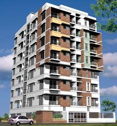 Modern Apartment Building Facade 3 bhk apartment / flat for sale in thiruvananthapuram : http://www