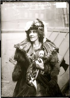 Constance Crawley (and her pet monkey), 1908 (Right up there with cat ladies - just my thought! kn)