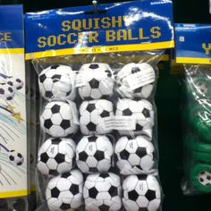 Soccer ball favors 12 for $5.99 - party city (.49 each)