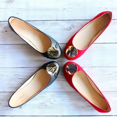 MONOGRAMMED BALLET FLATS Tory Burch Flats, Monograms, New Shoes, Ballet Flats, Personalized Gifts, Lily, Pairs, Color, Fashion