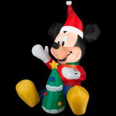 3.5 ft. Airblown LED Lighted Mickey with Tree-87381 at The Home Depot