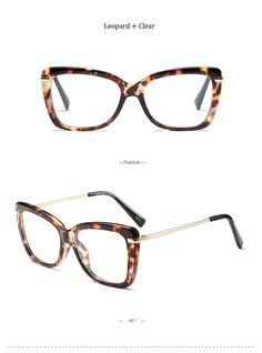 R  30.04 50% de desconto 2018 Retro Mulheres Novas Armações de Óculos Da  Marca Clássico Designer de Luxo Mulheres Armação de Metal Cat Eye Glasses  Moda ... f35f9561a8