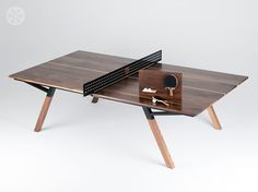 Sean Woolsey's Walnut Wood Ping Pong Table / Dining Table – if it's hip, it's here Nixie Tube, Conference Table, Fashion Room, Ping Pong Table, Walnut Wood, Dining Room Table, Innovation Design, Play, Shuffleboard Table