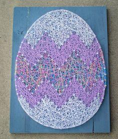 MADE TO ORDER Easter egg string art by StringArtByLindsy on Etsy